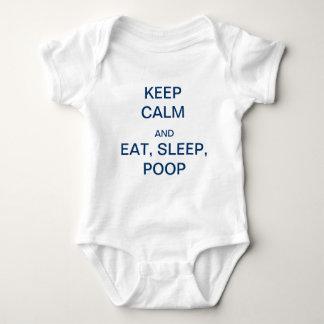 "Adorable ""KEEP CALM and EAT, SLEEP, POOP"" Baby Bodysuit"