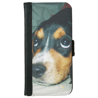 Adorable Large Eyes Beagle Puppy iPhone 6 Wallet Case