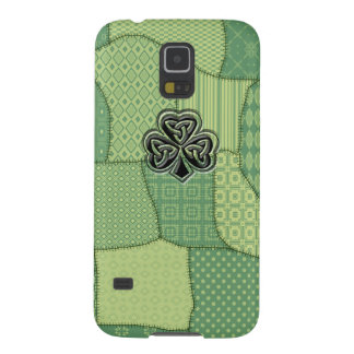 Adorable lucky Irish shamrock patchwork Cases For Galaxy S5