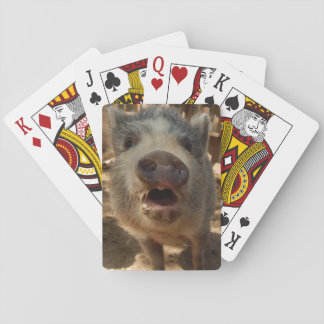 Adorable Mini Pig Playing Cards