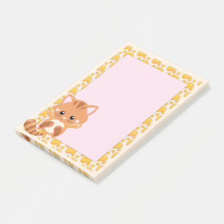 Adorable Orange Tabby Tiger Kitten Post-it Notes