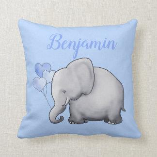 Adorable Personalized Cute Elephant Nursery Cushion