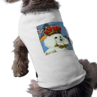 Adorable pet tee with white poodle and crown