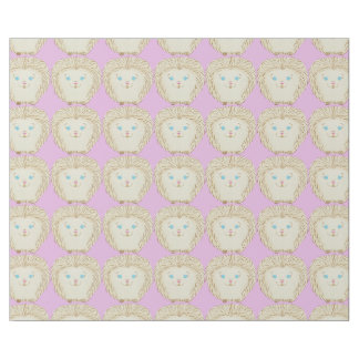 Adorable Pink Hedgehog Linen Wrapping Paper