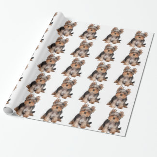 Adorable puppy wrapping paper