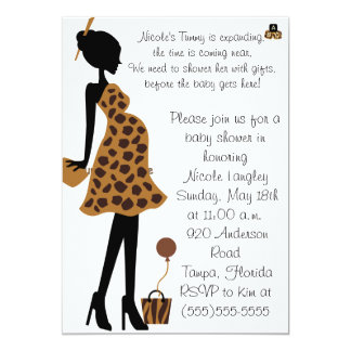 Adorable Safari Mom to be Baby Shower Invitation