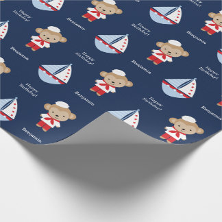 Adorable Sailor Monkey Wrapping Paper