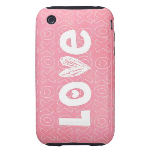 Adorable Splash of Pink Love Tough iPhone 3 Cases