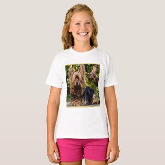 Adorable sweet Yorkshire terrier gold foil design T-Shirt
