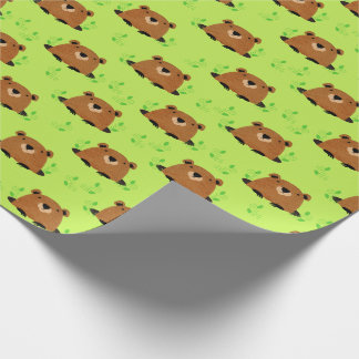 Adorable Woodland Groundhog Pattern Wrapping Paper