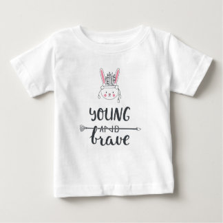 """Adorable """"Young & Brave"""" Native American T-Shirt"""