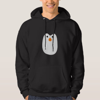 adorably cute penguin face hoodie