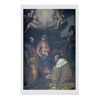 Adoration of the Magi, 1629 (oil on canvas) Poster