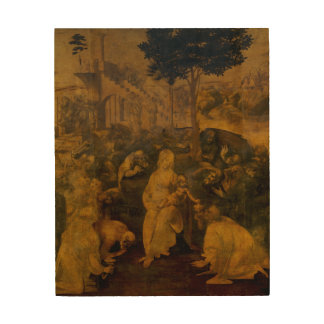Adoration of the Magi by Leonardo da Vinci Wood Wall Decor