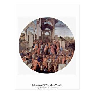 Adoration Of The Magi Tondo By Sandro Botticelli Postcard