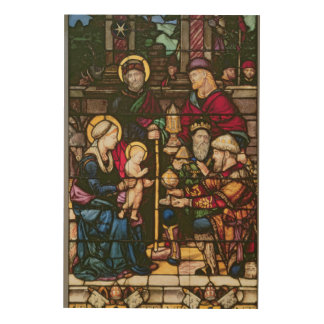 Adoration of the Magi Wood Print