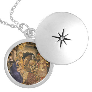 Adorazione dei Magi Silver Plated Necklace