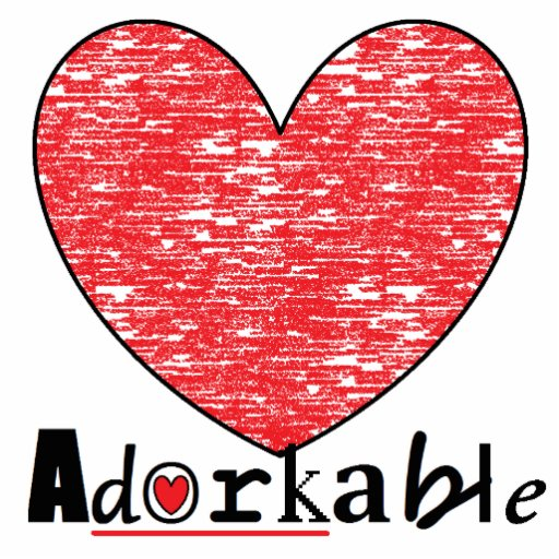 Adorkable Heart Photo Sculpture