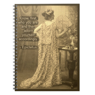Adorn Yourself Accordingly  - Vintage Photograph Spiral Notebook