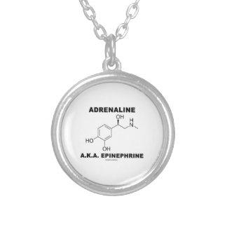 Adrenaline A.K.A. Epinephrine (Chemistry) Silver Plated Necklace