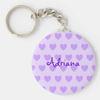 Adriana in Purple Key Ring