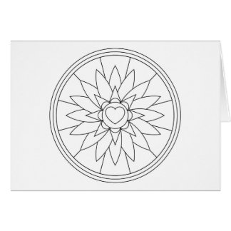 Adult Coloring Heart Note Card with Envelope