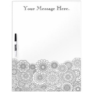 Adult Coloring Personalized Dry Erase Board LARGE