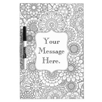 Adult Coloring Personalized Dry Erase Board MEDIUM