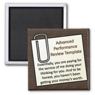 Advanced Performance Review Techniques Square Magnet
