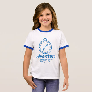Adventure Begins Ringer T-Shirt