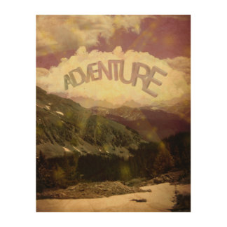 Adventure Wood Canvas