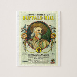 Adventures of Buffalo Bill 1917 film poster Jigsaw Puzzle