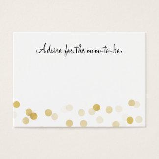 Advice Card Baby Shower Gold Foil Glitter Lights