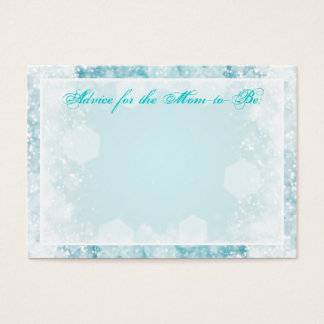 Advice Card Baby Shower Night Sparkle Turquoise