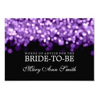 Advice Card Bridal Shower Purple Lights
