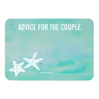 Advice for the Couple | Starfish Aqua Card