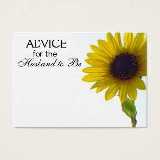Advice for the Husband to Be Tall Sunflower Cards