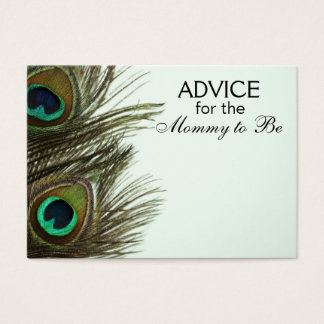 Advice for the Mommy to Be Peacock Feather Cards