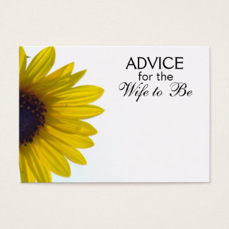 Advice for the Wife to Be Giant Sunflower Cards
