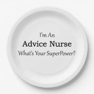 Advice Nurse 9 Inch Paper Plate