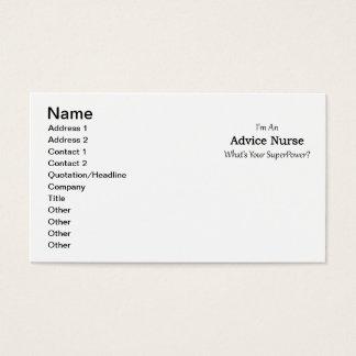 Advice Nurse Business Card