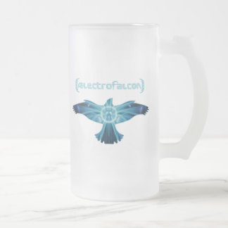 AElectrofalcon Logo Frosted Glass Beer Mug