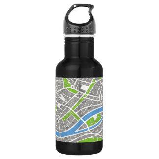 Aerial City Streets Pattern 532 Ml Water Bottle