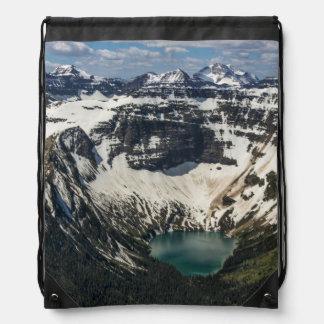 Aerial Of Warderman Lake Drawstring Bag