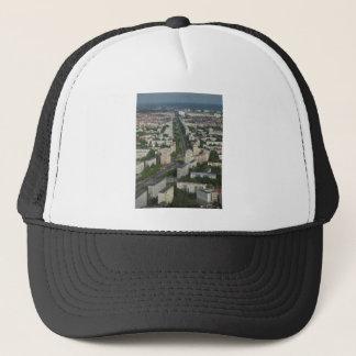 Aerial view Karl Marx Allee Berlin Germany Trucker Hat