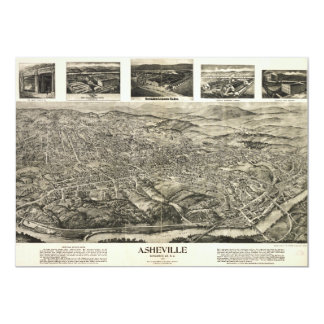 Aerial View of Asheville, North Carolina (1912) Card