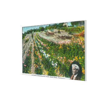Aerial View of Burbanks Experimental Farm Stretched Canvas Print