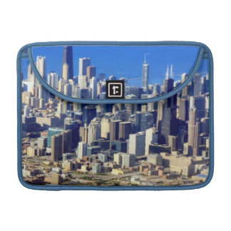 Aerial view of Chicago Downtown with Lake Sleeve For MacBook Pro
