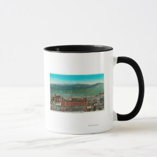 Aerial View of City and Highland Mountain Mug