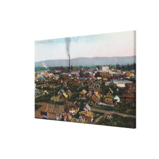 Aerial View of CityFairbanks, AK Canvas Print